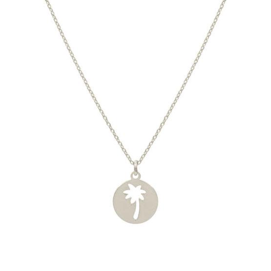 collar palmera plata