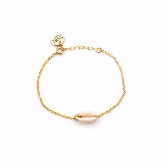 cowrie gold bracelet