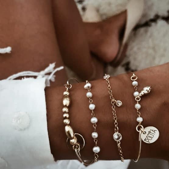 pulseras perlas
