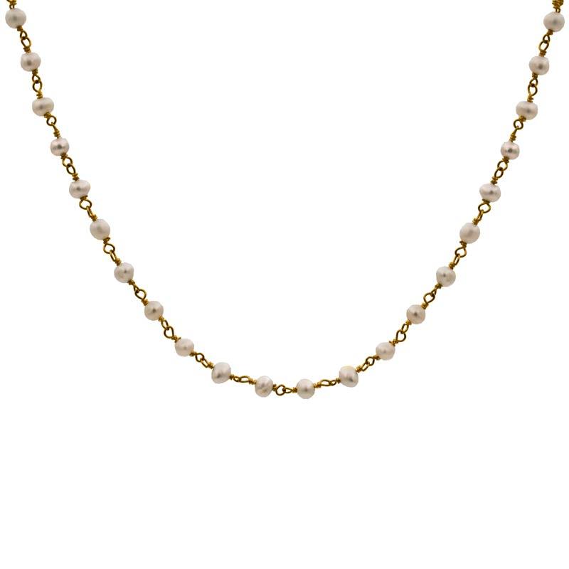 collar blessed perla oro