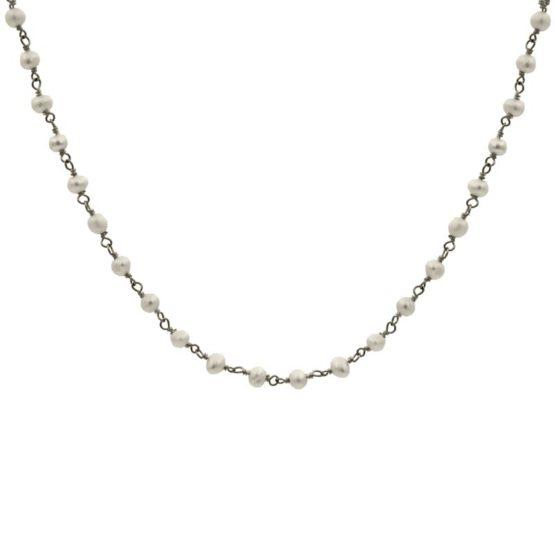 collar blessed perla plata