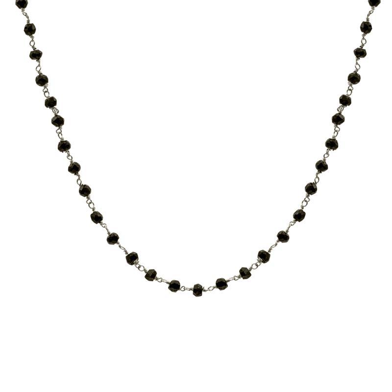 collar blessed negro plata