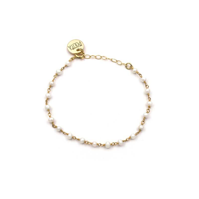 pulsera blessed perla oro