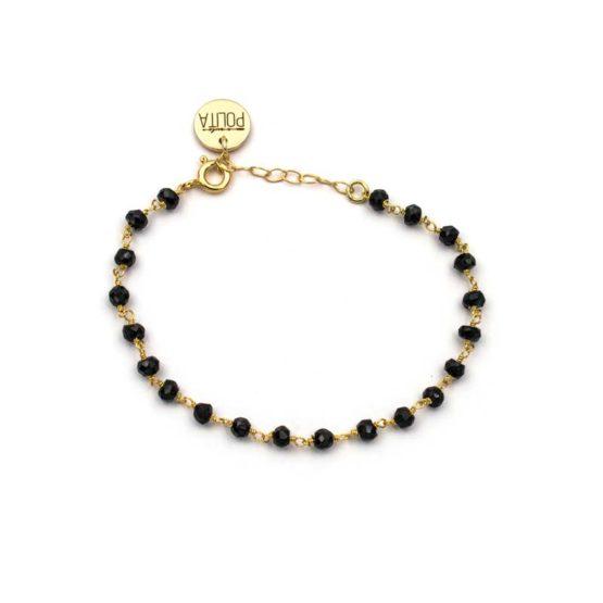 pulsera blessed negro oro