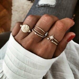 anillos plata bano oro