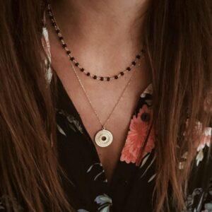 collares espinela plata