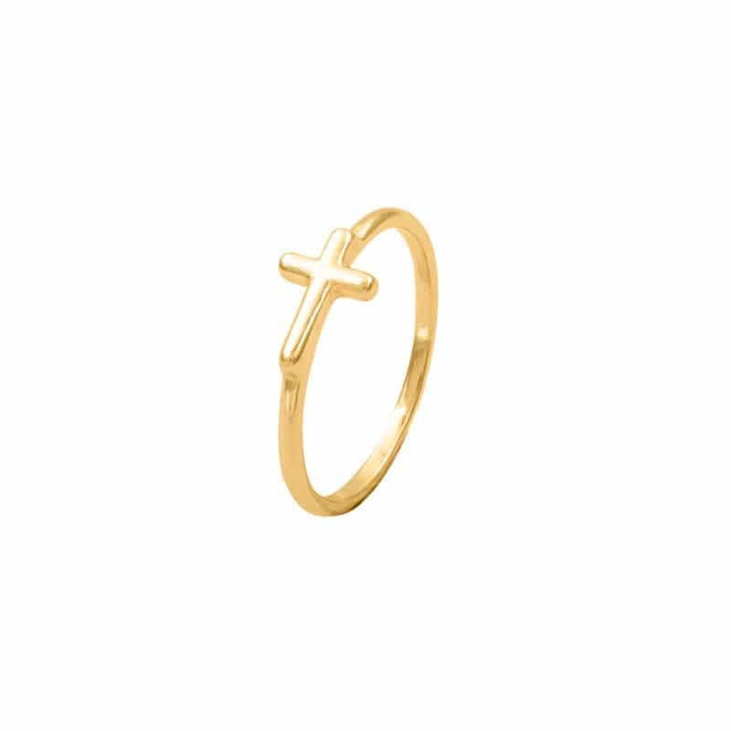 anillo cross oro