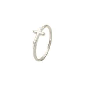 anillo cross plata