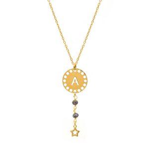 collar initials opalo oro