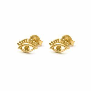 pendientes eye oro