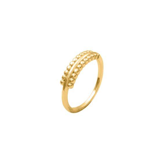 anillo flat oro