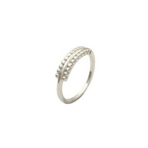 anillo flat plata