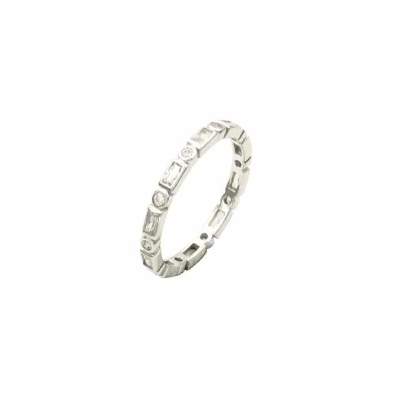 anillo misha plata