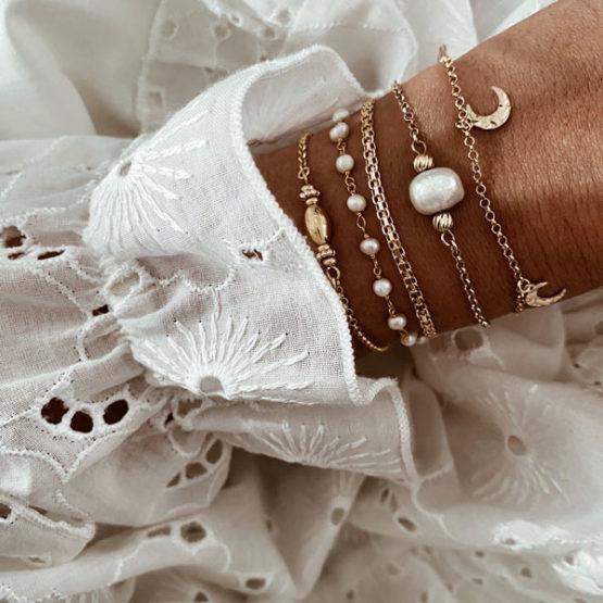 pulseras perlas lunas
