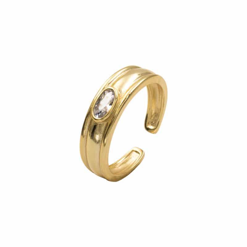 anillo garna oro