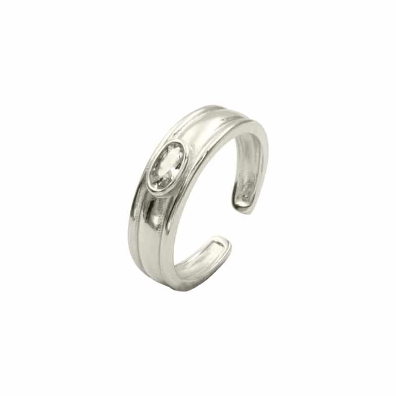 anillo garna plata