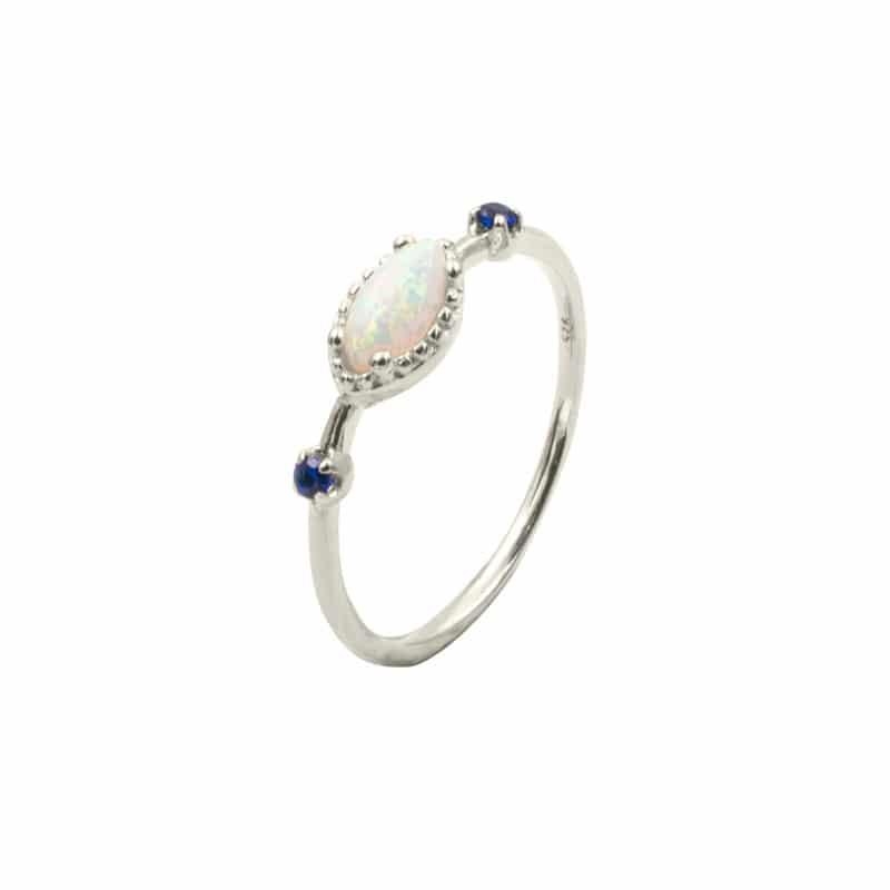 anillo briana plata
