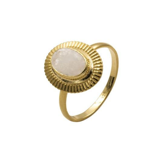 anillo lisan blanco oro
