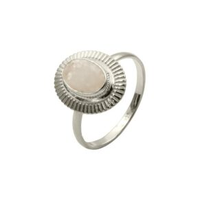 anillo lisan blanco plata