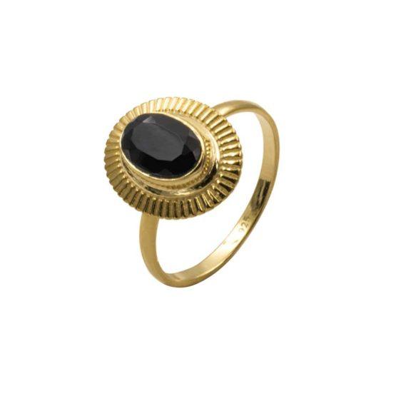 anillo linan negro oro