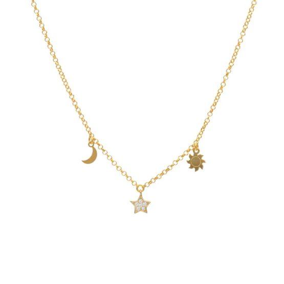 collar cosmos oro