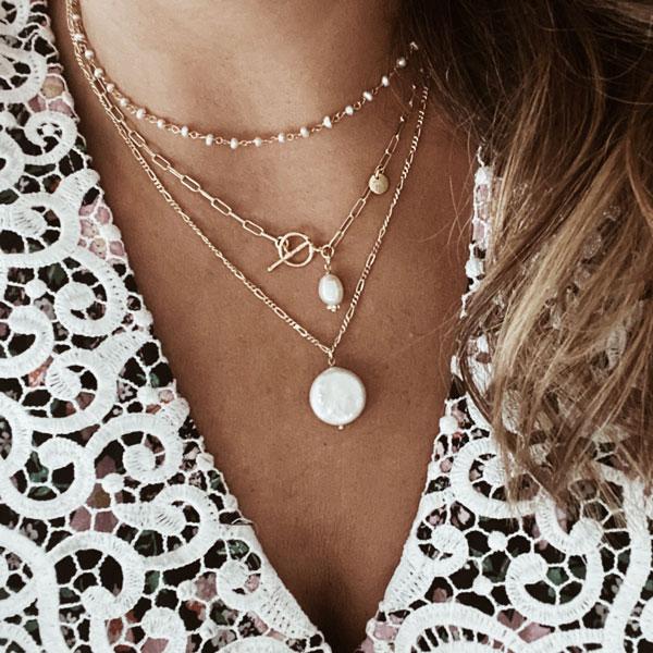 collares perlas eslabones