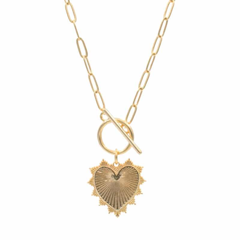collar heart oro