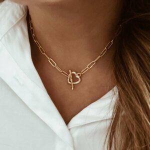 collar eslabones corazon