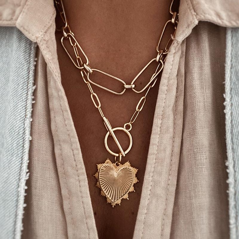 collar corazon grande