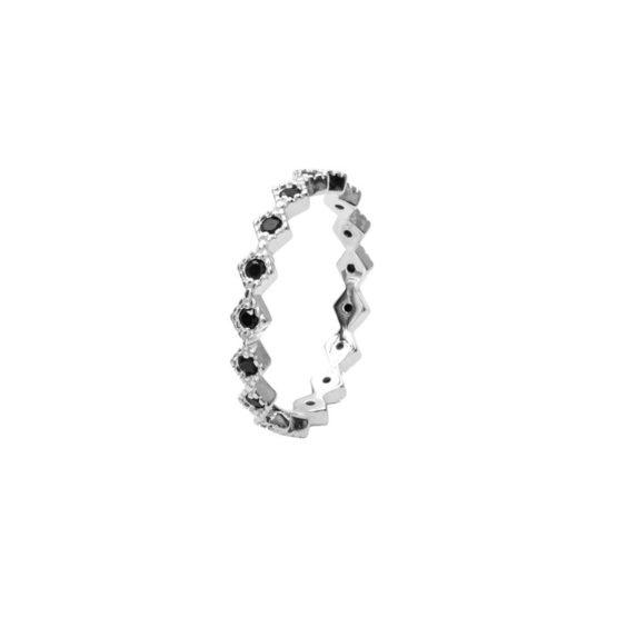 anillo saskia plata