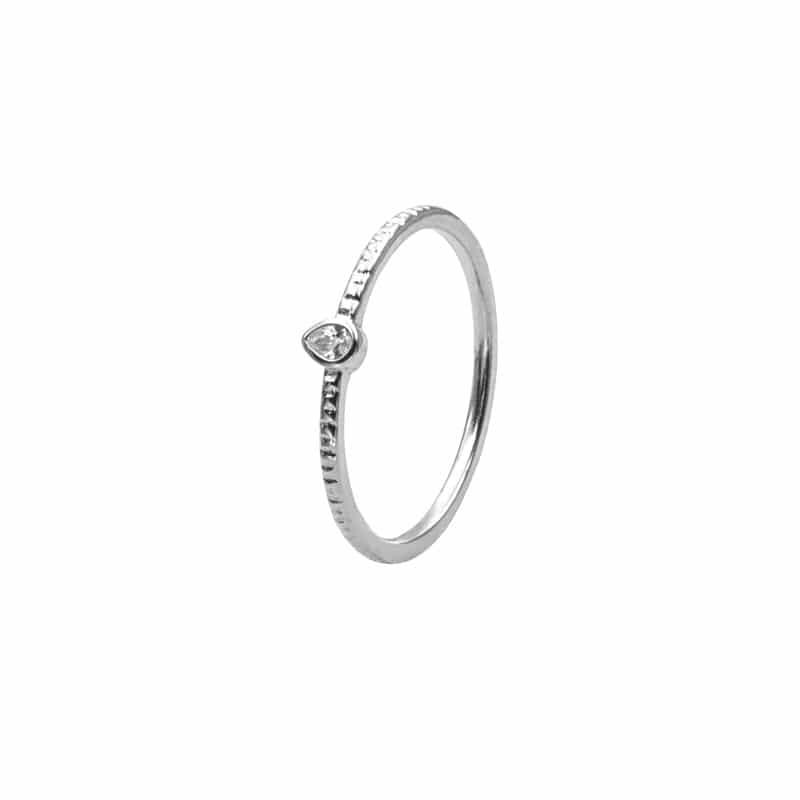 anillo inca blanco plata
