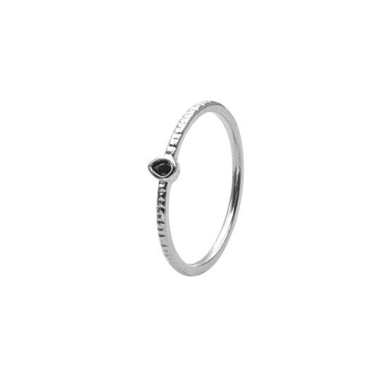 anillo inca negro plata