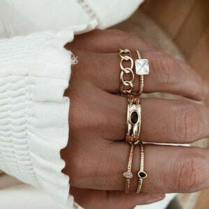 anillos plata circonitas