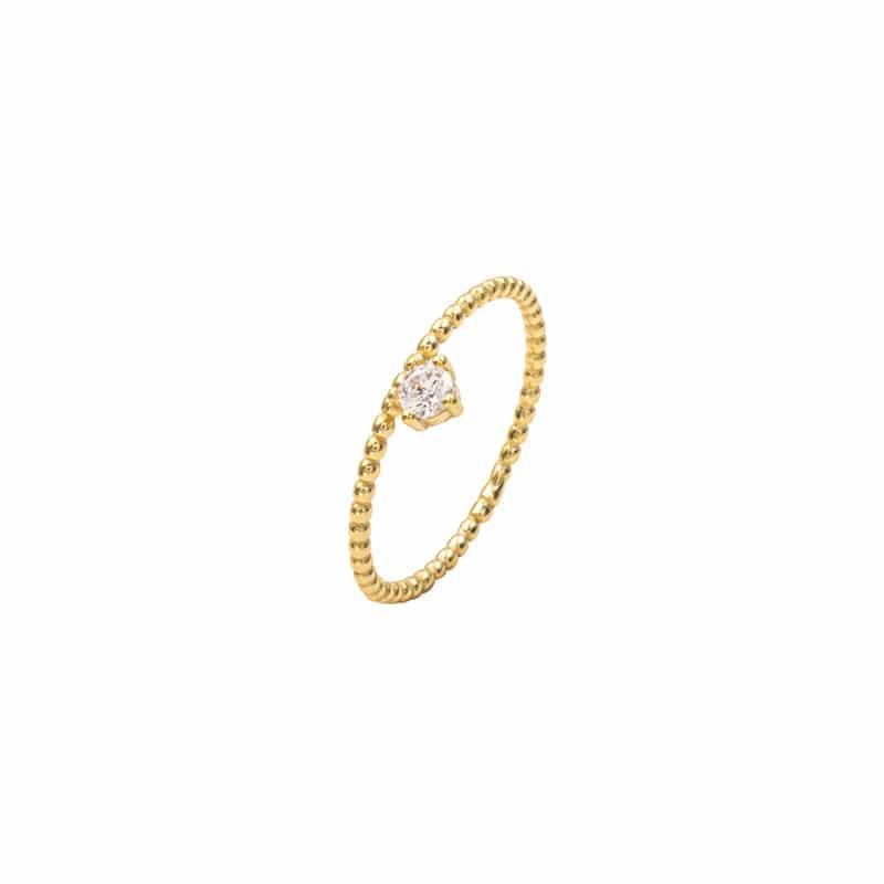 anillo milos oro