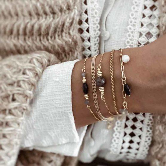 pulseras piedras naturales plata
