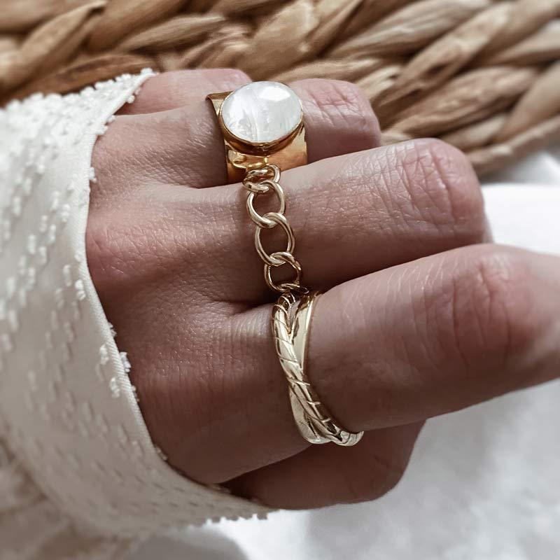 anillos plata de ley bano oro