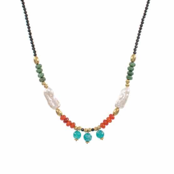 Collar-tibaire-perlas-piedras-verde-naranja-turquesa-oro-neska-polita2