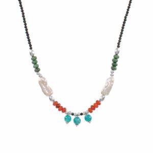 Collar-tibaire-perlas-piedras-verde-naranja-turquesa-plata-neska-polita2
