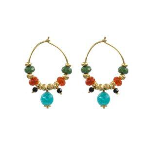 Pendientes-tibaire-aro-piedra-verde-naranja-turquesa-oro-neska-polita2
