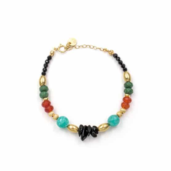 Pulsera-tibaire-aro-piedra-verde-naranja-turquesa-oro-neska-polita2