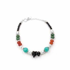 Pulsera-tibaire-aro-piedra-verde-naranja-turquesa-plata-neska-polita2