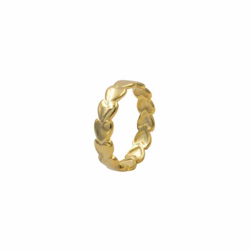 anillo heart oro