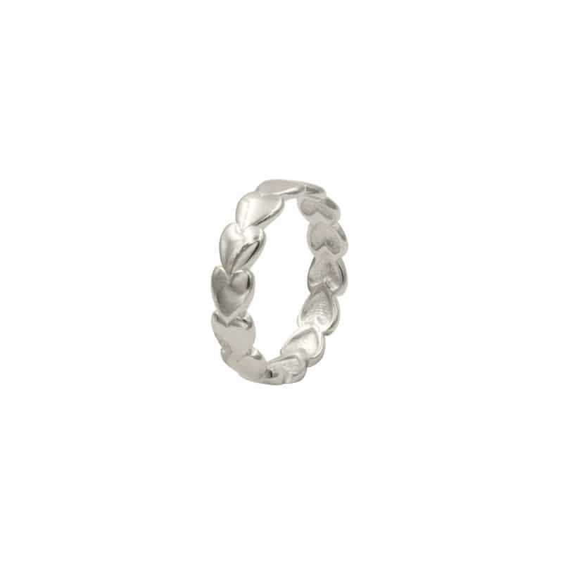 anillo heart plata