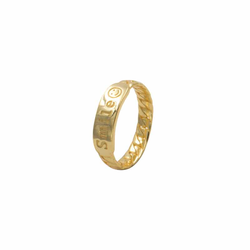 anillo smile oro