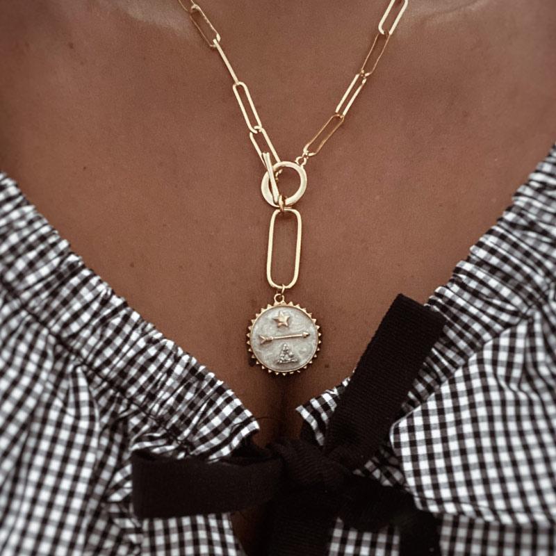 collar ares eslabones oro