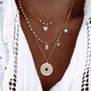 collares sweet heart, fiona y azteca