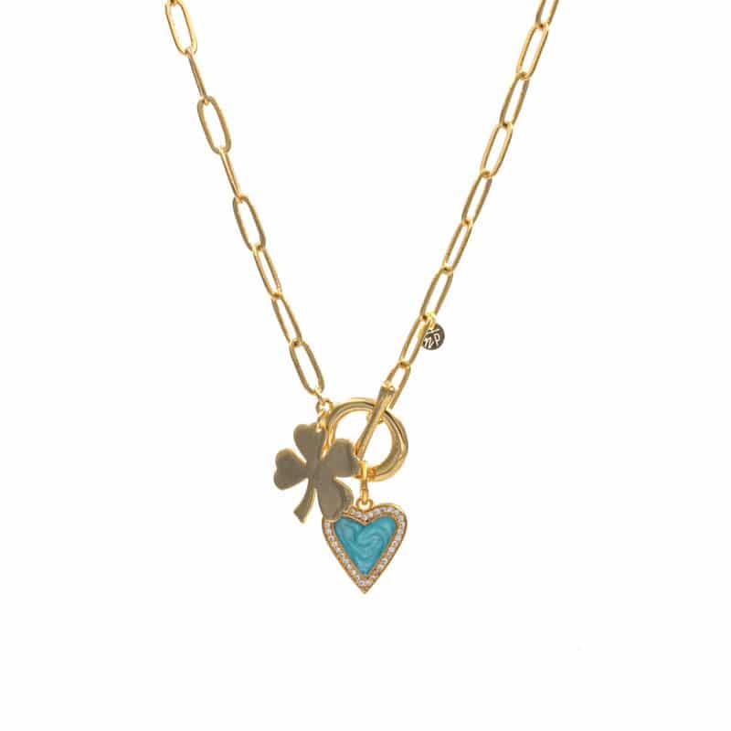 collar lucky love azul