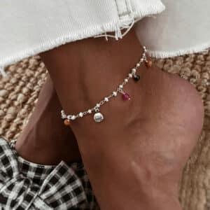 tobillera kamala perlas plata