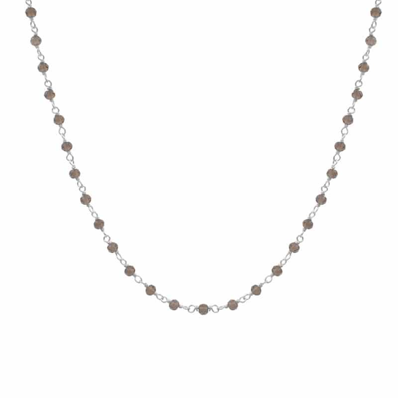 collar bimba cuarzo plata