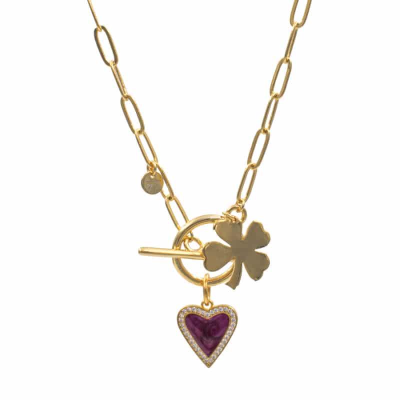 Collar Lucky Love Morado